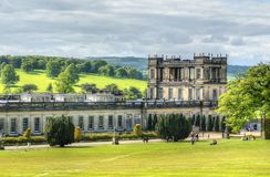 Stock image of Chatsworth House, Derbyshire, Britain.  Royalty Free Stock Photography