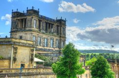 Stock image of Chatsworth House, Derbyshire, Britain.  Royalty Free Stock Images