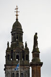 Stock image of City Chambers in George Square, Glasgow, Scotland Royalty Free Stock Photography