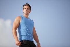 Stock image of a fit man stock photos