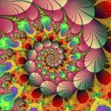 Stock image of Fractal Autumn Background. Autumn waltz , spiral render of abstract fractal background .Great , colorful design element vector illustration
