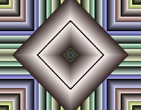 Stock image of Fractal Geometry. High tech abstract fractal art with dynamic geometrical shapes and pulsing color influence stock illustration