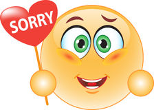 Smiley, an apology. Stock Photos