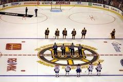 Stock image of Ice Hockey Game at Boston.  royalty free stock image