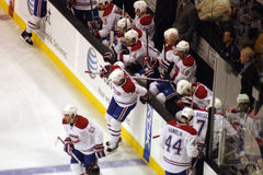 Stock image of Ice Hockey Game at Boston.  royalty free stock images