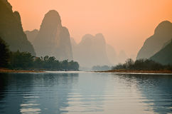 Stock image of Landscape in Yangshuo Guilin, China Royalty Free Stock Photography