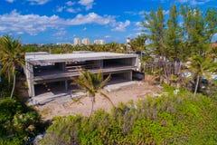Luxury mansion under construction on the beach. Stock image of a luxury mansion under construction in Boynton Beach FL Royalty Free Stock Photos