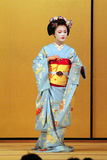 Stock image of Maiko performing a kyo-mai dance Stock Image