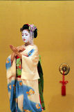 Stock image of Maiko performing a kyo-mai dance Stock Photography