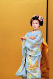 Stock image of Maiko performing a kyo-mai dance Stock Images