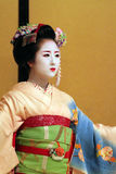 Stock image of Maiko performing a kyo-mai dance Royalty Free Stock Photo