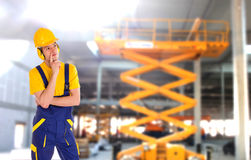Stock image of male construction worker Stock Photos