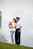Stock image of a military family Royalty Free Stock Photo