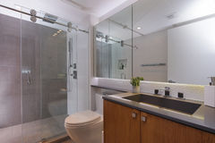 Stock image of a modern bathroom Stock Images