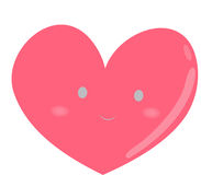 Stock Image: Pink Heart. Simple lines pink heart image Royalty Free Stock Photography