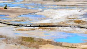 Stock image of Porcelain Basin Trail in Norris Geyser Basin, Yellowstone National Park, USA.  stock image