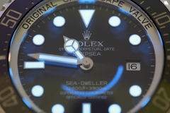 Stock image Rolex Deepsea Sea Dweller Royalty Free Stock Photography