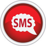 Round sign that says SMS Royalty Free Stock Photos