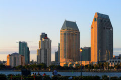 Stock image of San Diego waterfront and skyline.  royalty free stock images