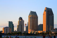 Stock image of San Diego waterfront and skyline.  stock photos