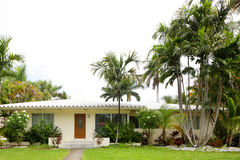 Stock image of a single family house. In South Florida Royalty Free Stock Photos