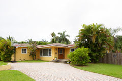 Stock image of a single family house. In South Florida Royalty Free Stock Image