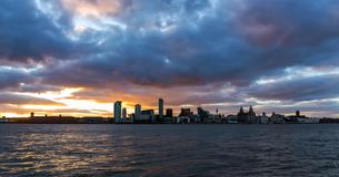 Stock image of the skyline of Liverpool, UK royalty free stock photo