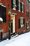 Stock image of a snowing winter at Boston, Massachusetts, USA. Stock Photos