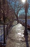 Boston Winter. Light, paved. stock image