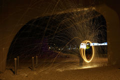 Stock image of spinning steel wool Stock Photography