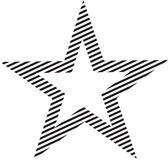 Stock Image: Striped Star Stock Photography