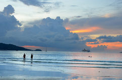 Stock image of Sunset at the Patong beach, Phuket, Thailand.  stock photography