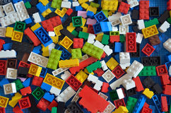 Stock image of Toy colorful plastic blocks stock photos