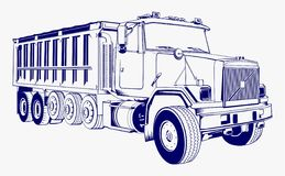 Stock Image Truck Vintage Vector. Full Editable  File Stock Photography