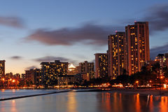 Stock image of Waikiki Beach, Honolulu, Oahu, Hawaii Stock Images