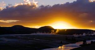 Stock image of West Thumb Geyser Basin, Yellowstone National Park, USA.  royalty free stock photos
