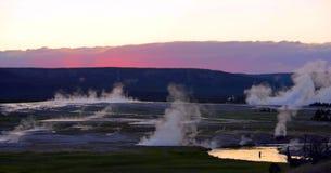 Stock image of West Thumb Geyser Basin, Yellowstone National Park, USA.  stock image