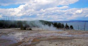 Stock image of West Thumb Geyser Basin, Yellowstone National Park, USA.  stock photo