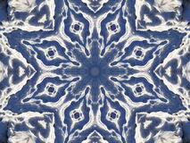 Stock image of Winter Kaleidoscope. Unusual background with winter kaleidoscope that looks like large snowflake , image created from photo of snow royalty free illustration
