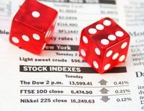 Stock index. Es, devil's bones - risk investment concept Stock Images