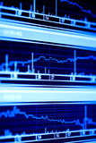Stock index. Stock market graphs on lcd screen stock photography