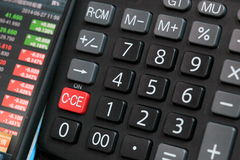 Stock index and calculator Stock Images