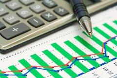 Stock index dynamics. Royalty Free Stock Photos