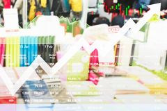 Stock index of Sale promotion growth rate high. Stock index of Sale promotion growth rate high due to economic problem Royalty Free Stock Images
