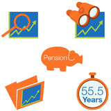 Stock Investment Icons. An image of stock investment icons Royalty Free Stock Photos