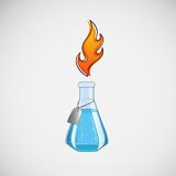 Stock laboratory flask on a light background Stock Photo