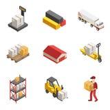 Stock Logistics Isometric Icon Set Stock Photo