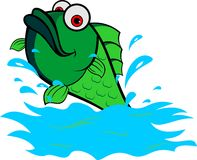 Stock logo green fish jump from water. Can use for various business Stock Images