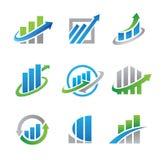 Stock logos and icons Royalty Free Stock Photos