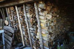 Stock of logs for burning Stock Photos